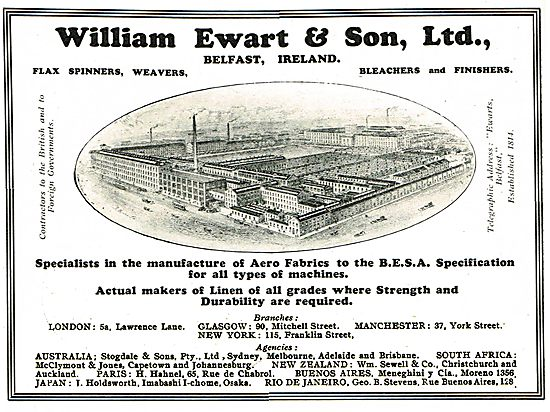 William Ewart Belfast: Aero Fabrics