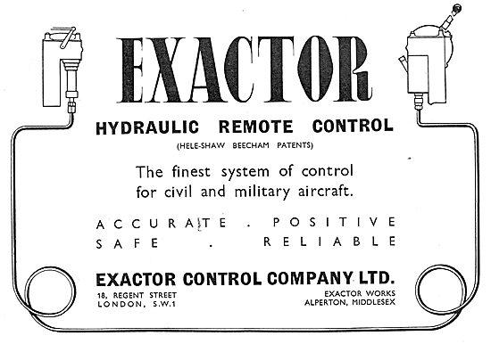 Exactor Hydraulic Remote Controls. (Heleshaw Beecham Patents)