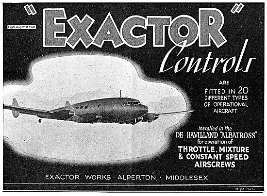 Exactor Controls. D.H. Albatross