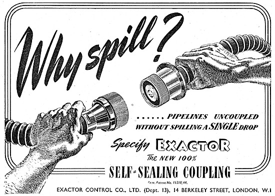Exactor Self-Sealing Pipe Couplings