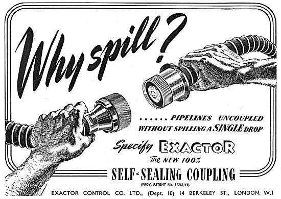 Exactor Controls Self-Sealing Couplings