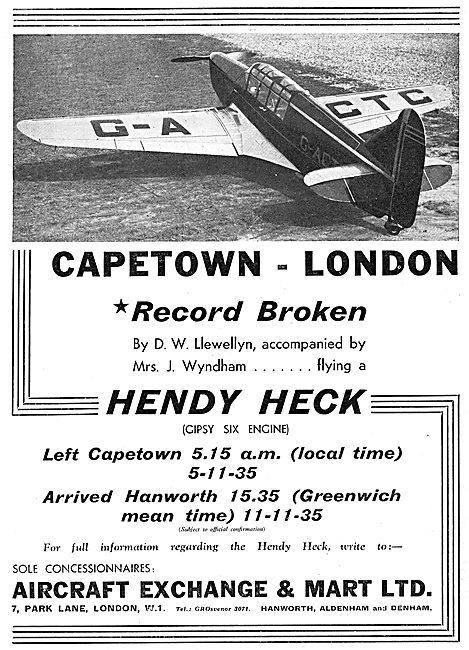 Aircraft Exchange & Mart: Hendy Heck : Gipsy Six :  G-ACTC