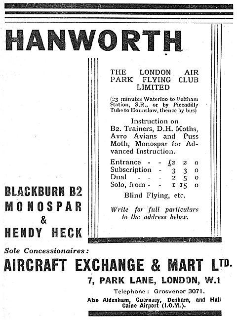 Aircraft Exchange & Mart -Aircraft Sales & Service - Balckburn B2