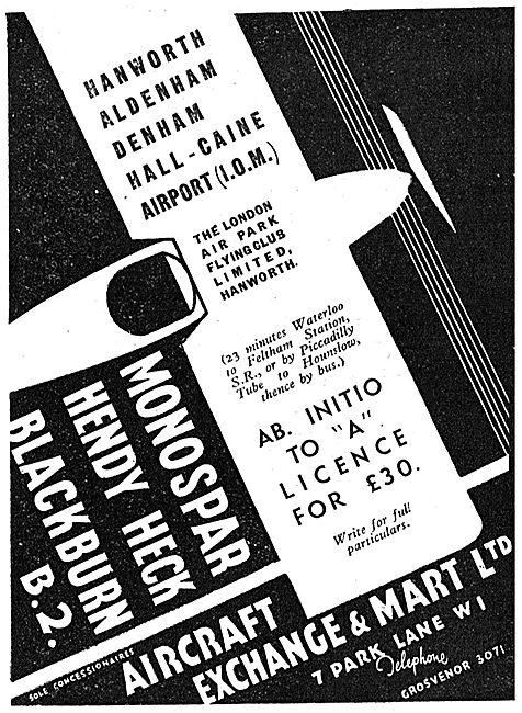 Aircraft Exchange & Mart - Hendy heck - Monospar - Blackburn B2
