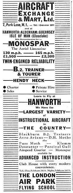 Aircraft Exchange & Mart - Blackburn B2 - Hendy Heck