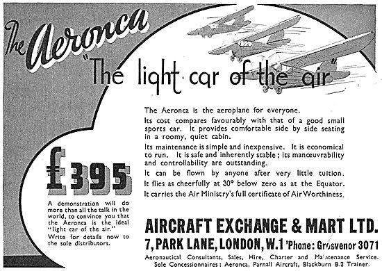 Aircraft Exchange & Mart - Aeronca JAP Aircraft £395
