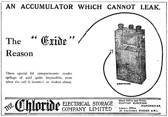 Chloride Batteries. Exide Accumulators