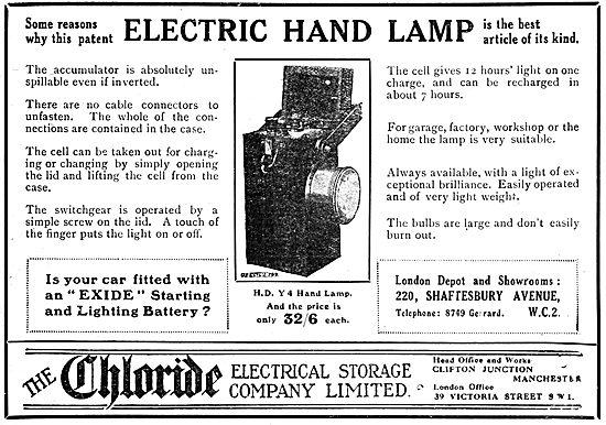 Chloride Exide H.D. Electric Y4 Hand Lamp