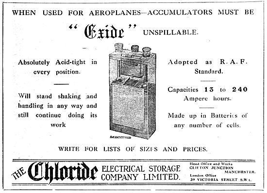 Chloride Batteries. Exide Accumulators