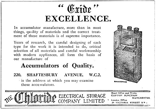 Exide Accumulators 1920