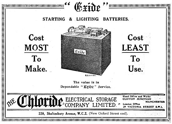 Exide Accumulators. Exide Starting & Lighting Batteries