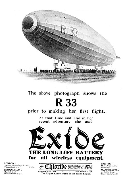 Exide Batteries 1925