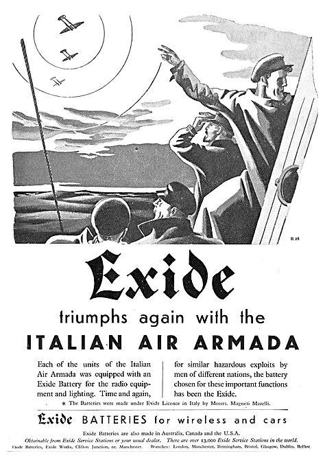 Exide Batteries Italian Air Armada