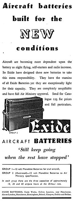 Exide Aircraft Batteries