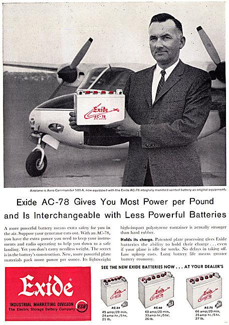 Exide Aircraft Batteries - Exide AC-78 Battery
