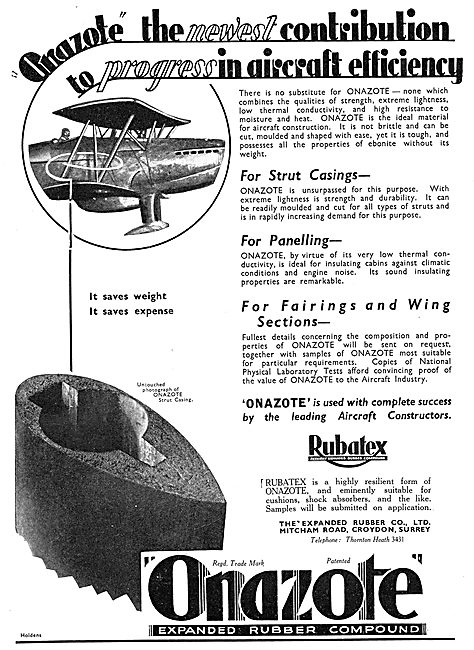 Expanded Rubber Co - Onazote Expanded Rubber Compund