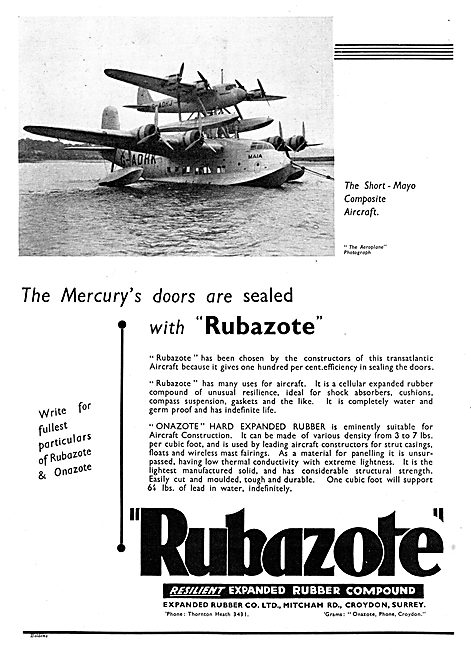 Expanded Rubber Co - Rubazote Aircraft Components