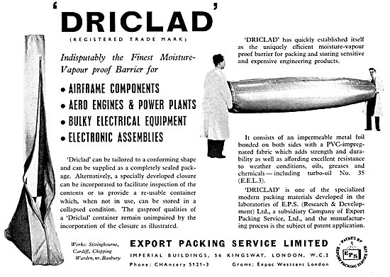 Export Packing Service. DRICLAD. Stands & Case Pack For Parts