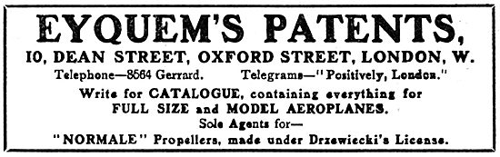 Eyquems Patents - Full Size & Model Aeroplanes
