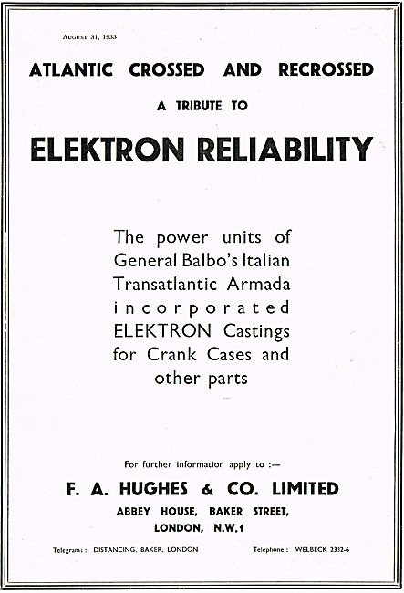Elektron Castings From F A Hughes & Co