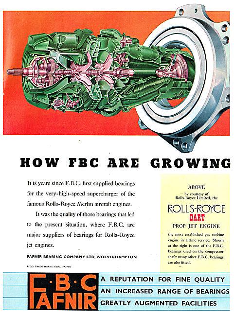 Fafnir Bearing Co: FBC: Bearing For Rolls-Royce Jet Engines