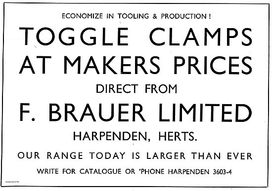 Brauer Toggle Clamps For Aircraft Production