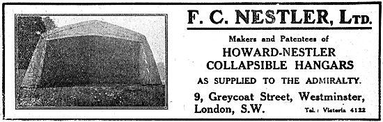 F.C.Nestler - WW1 Howard-Nestler Collapsible Hangars