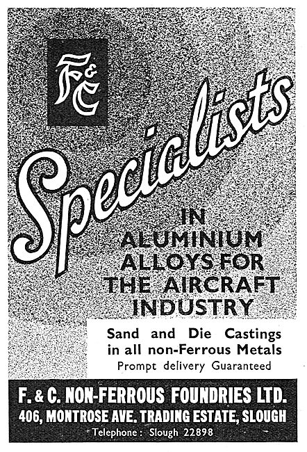 F.& C. Non-Ferrous Foundries. Slough. Sand & Die Castings