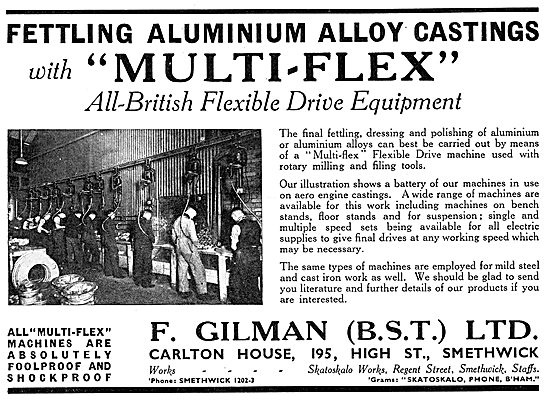 F.Gilman Flexible Drive Equipment