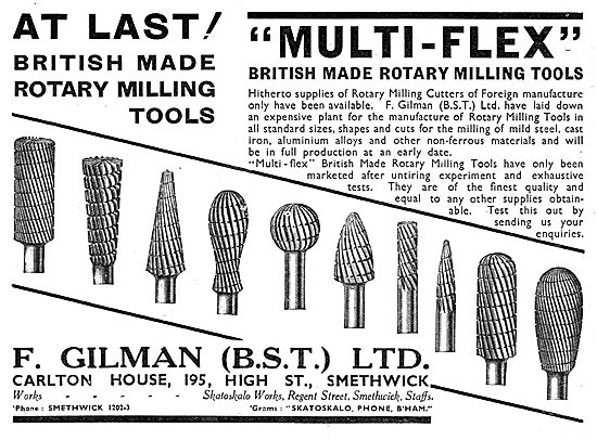 F.Gilman Rotary Cutting & Milling Tools