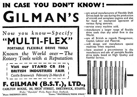 F.Gilman Multi-Flex Flexible Drive Tools
