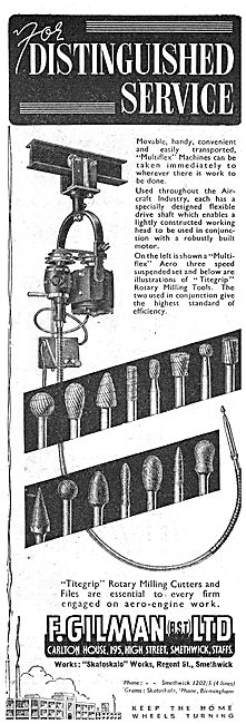 F.Gilman. Machine Tools. Titegrip Rotary Milling Cutters