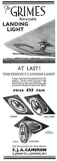 F.J.A.Cameron - Grimes Self Retractable Landing Lights