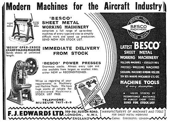 F.J.Edwards Machine Tools: