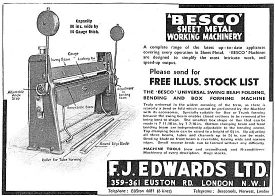F.J.Edwards Machine Tools: Besco Box Forming Machine