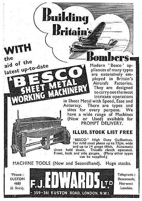 F.J.Edwards Machine Tools: - Besco Sheet Metal Machinery