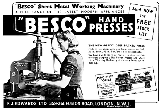 F.J.Edwards Besco Machine Tools: