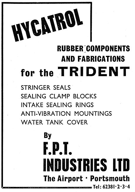 FPT Industries - HYCATROL Rubber Components & Fabrications