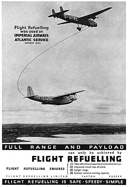 Flight Refuelling Ltd : Yapton Sussex : Imperial Airways