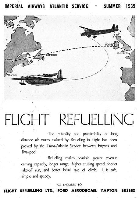 Flight Refuelling Ltd. Ford 1939 Advert