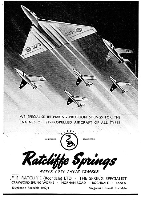 F.S.Ratcliffe Precision Springs For Jet Aircraft