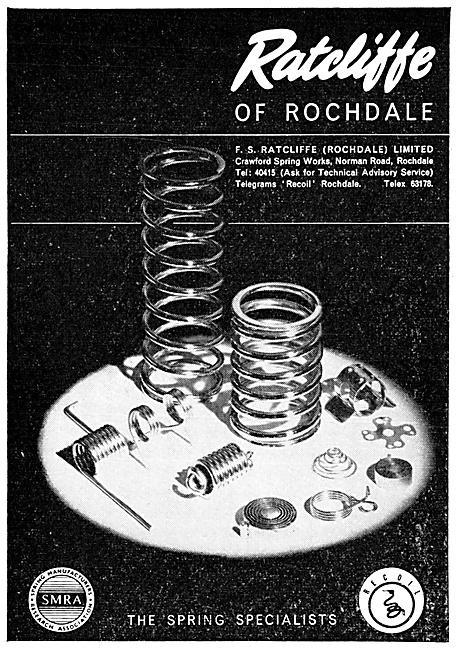 F.S.Ratcliffe. Rochdale. Springs