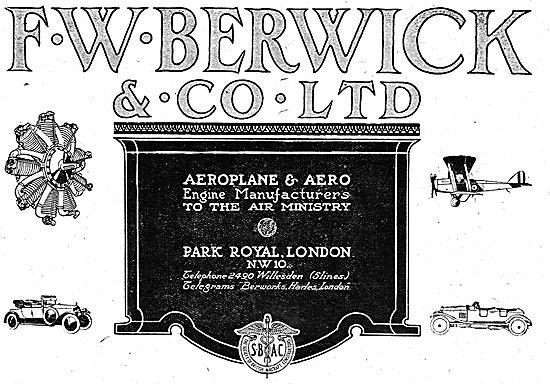 F.W.Berwick & Co. Aeroplane & Aero Engine Manufacturers