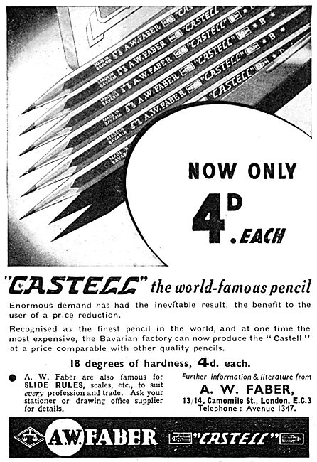 Faber Castell Draughtsmens' Pencils