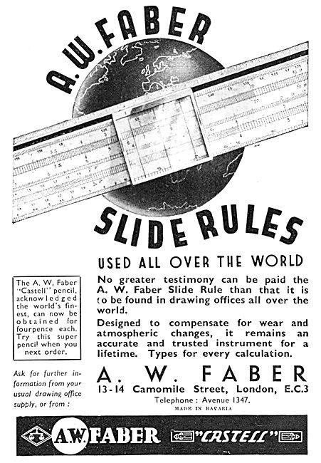 Faber Slide Rules 1938