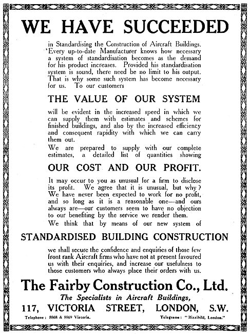 Fairby Construction Co - Aircraft Hangars
