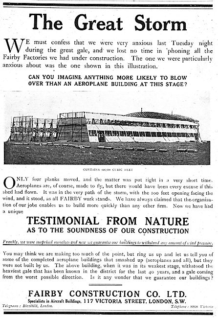 Fairby Construction Co. Aircraft Hangars