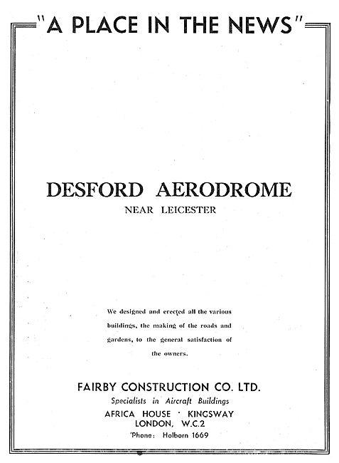 Fairby Construction Co Ltd : Desford Aerodrome
