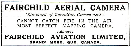 Fairchild Aerial Camera - Cannot Catch Fire In the Air