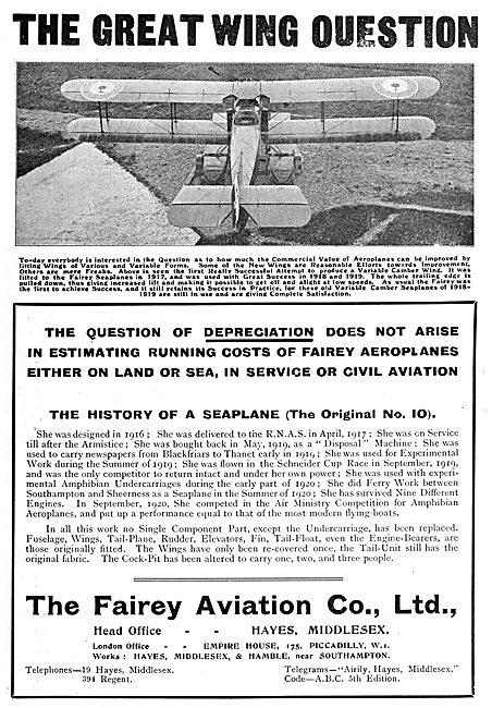 Fairey Seaplanes & Amphibians